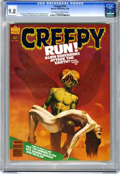 CGC Graded Comics - Creepy #115 (CGC) - Creepy 115 - Alien - Woman - Wings - Warren Magazine