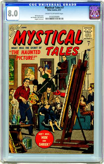 CGC Graded Comics - Mystical Tales #7 (CGC) - Mystical Tales - Hide And Shriek - Painter - The Hauned Picture - People