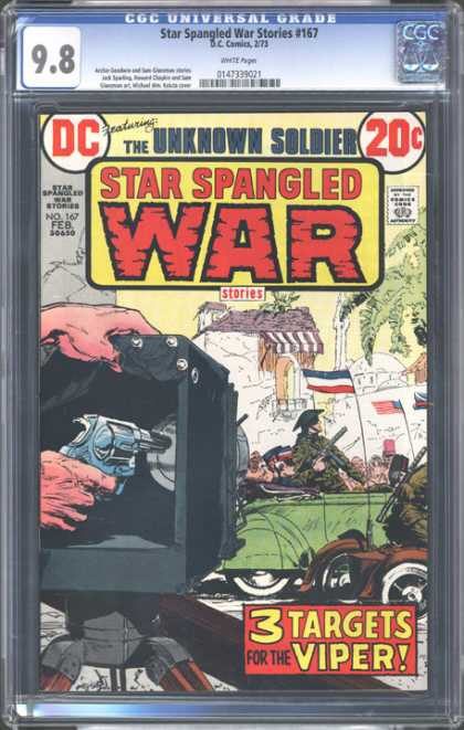 CGC Graded Comics - Star Spangled War Stories #167 (CGC) - Unknown Soldier - War - Star Spangled - Strategy - 3 Targets Viper