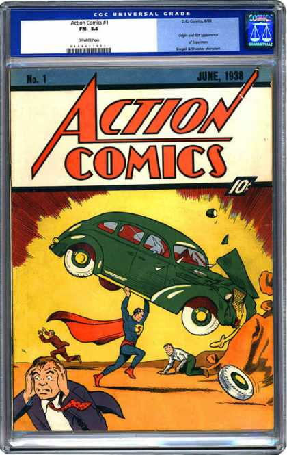 CGC Graded Comics - Action Comics #1 (CGC) - Real Action Not - Running Mens - Car Saved - Powerfull Blast - Real Saver