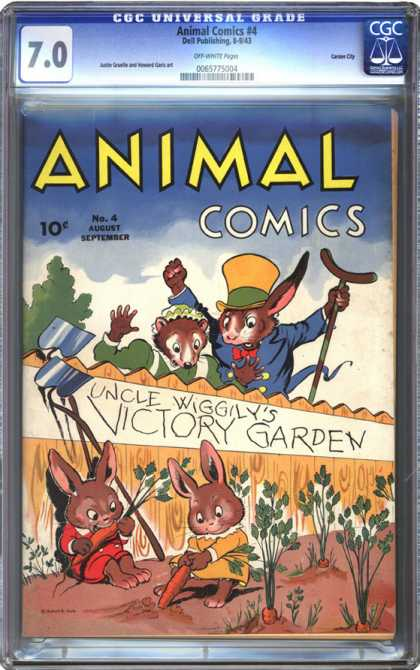 CGC Graded Comics - Animal Comics #4 (CGC) - Animal Comics - Victory Garden - Carrot - Rabbits - Uncle Wiggily