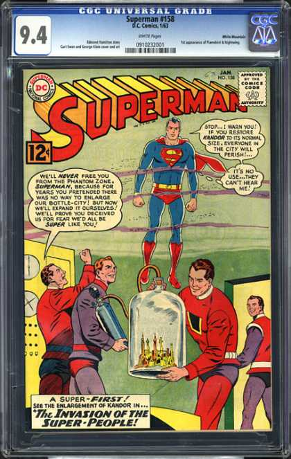 CGC Graded Comics - Superman #158 (CGC) - Dc - Superhero - Superman - Phantom Zone - Krypton