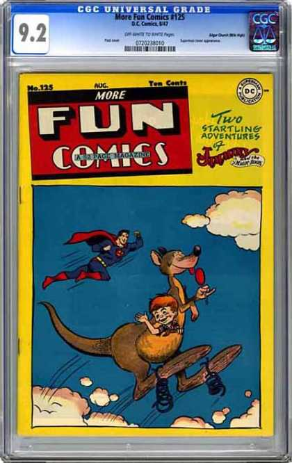 CGC Graded Comics - More Fun Comics #125 (CGC) - Cgc Hologram - Superman - Kangaroo - Lollypop - Springs