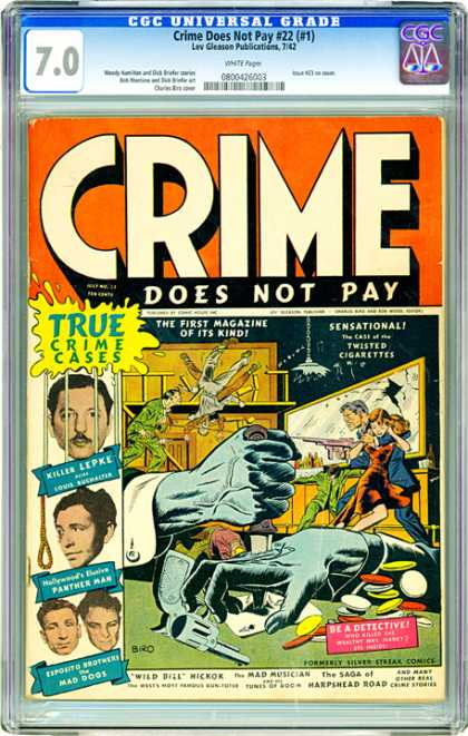 CGC Graded Comics - Crime Does Not Pay #22 (#1) (CGC)