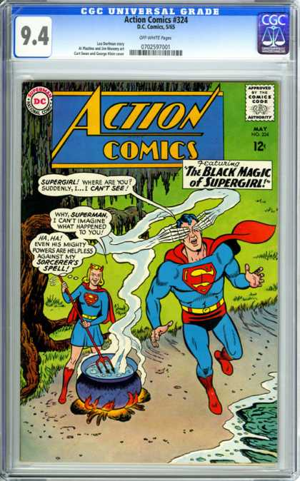CGC Graded Comics - Action Comics #324 (CGC)
