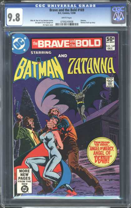 CGC Graded Comics - Brave and the Bold #169 (CGC) - Brave And The Bold - Batman - Zatanna - Angel Of Death - Mouth Covered