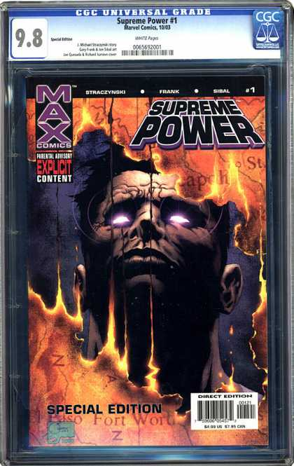 CGC Graded Comics - Supreme Power #1 (CGC) - Supreme Power - Max Comics - Special Edition - Direct Edition - Frank