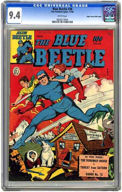 CGC Graded Comics - Blue Beetle #36 (CGC) - Hes Back
