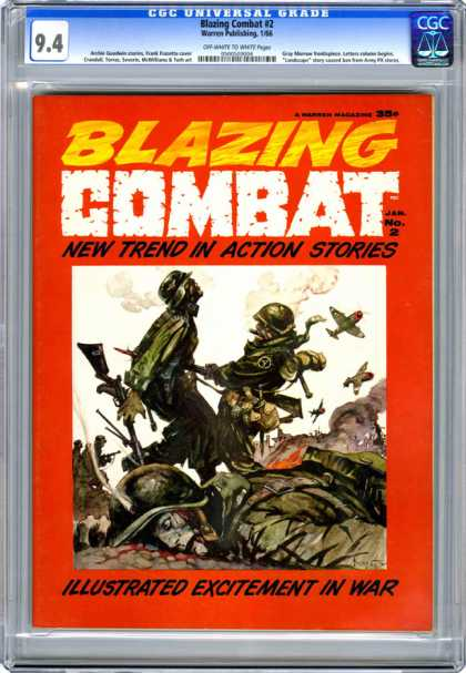 CGC Graded Comics - Blazing Combat #2 (CGC)