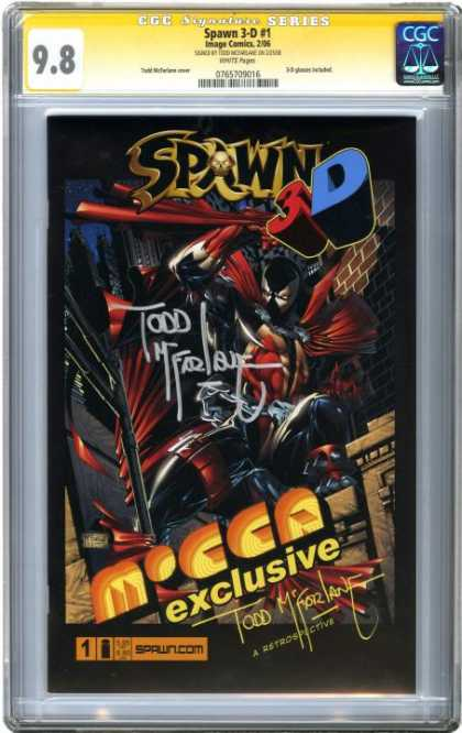 CGC Graded Comics - Spawn 3-D #1 (CGC) - 98 - Spawn 3-d - Cgc - Exclusive - Todd Mcfarlane