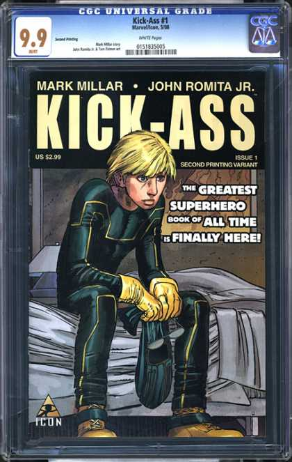 CGC Graded Comics - Kick-Ass #1 (CGC) - Kick-ass - Mark Millar - John Romita Jr - Issue 1 - Second Printing Variant