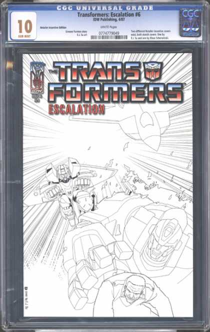 CGC Graded Comics - Transformers: Escalation #6 (CGC) - Transformers - Explosion - Escalation - Flying - Airplane