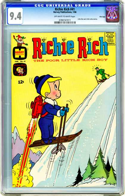 CGC Graded Comics - Richie Rich #41 (CGC) - Snorking - Snowfield - Skeigh - Richie Boy - Mountain