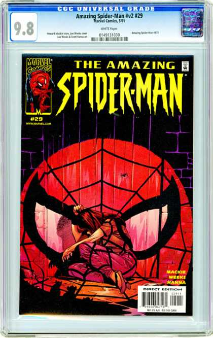 CGC Graded Comics - Amazing Spider-Man #v2 #29 (CGC) - 98 - Spider Web - Red Mask - Woman - Hanna