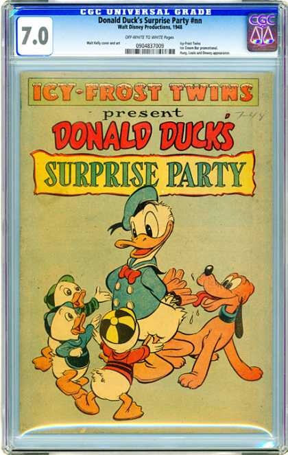 CGC Graded Comics - Donald Duck's Suprise Party #nn (CGC) - Donald Duck - Icy-frost Twins - Surprise Party - Pluto - Nephews