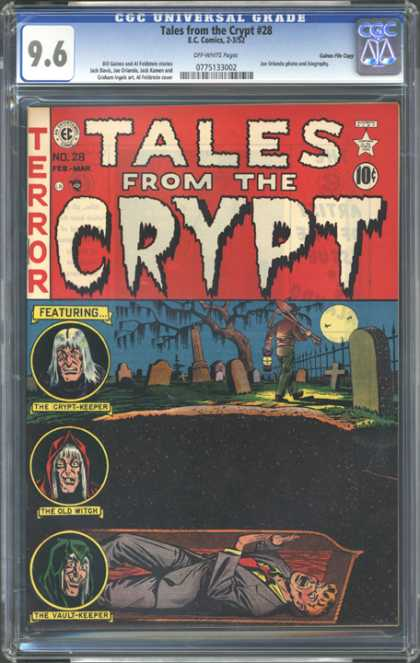 CGC Graded Comics - Tales from the Crypt #28 (CGC) - Tales From The Crypt - Crypt-keeper - Old Witch - Vault-keeper - Graveyard