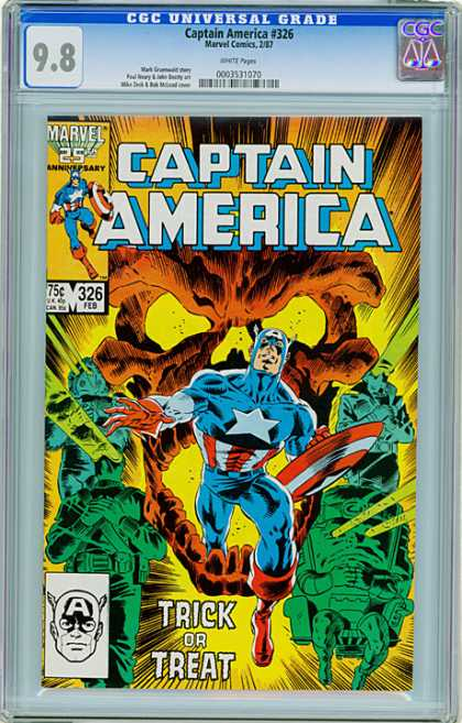 CGC Graded Comics - Captain America #326 (CGC)