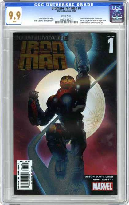 CGC Graded Comics - Ultimate Iron Man #1 (CGC) - Iron Man - Full Moon - Superhero - Issue 1 - Ultimate