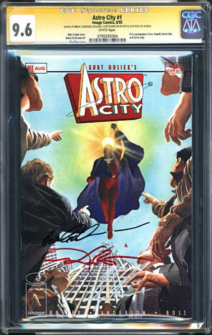 CGC Graded Comics - Astro City #1 (CGC) - Superheros - First Issue - Superpowers - Crime Fighting - Autographed