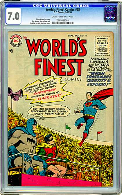 CGC Graded Comics - World's Finest Comics #78 (CGC)