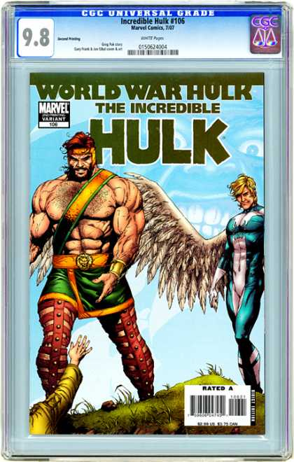 CGC Graded Comics - Incredible Hulk #106 (CGC) - Arcangel - Superhero - Grass - Feathers - Power