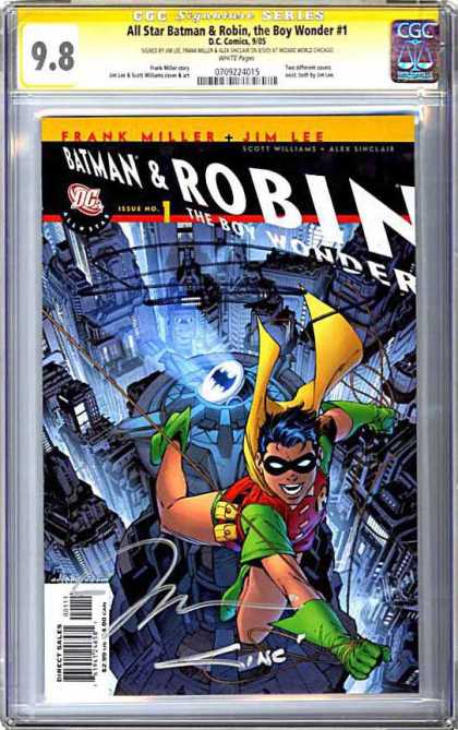 CGC Graded Comics - All Star Batman & Robin, the Boy Wonder #1 (CGC) - Batman - Robin - The Boy Wonder - City - Rope