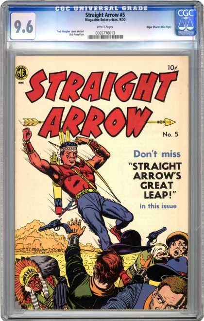 CGC Graded Comics - Straight Arrow #5 (CGC)