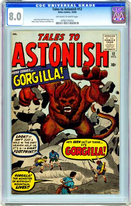 CGC Graded Comics - Tales to Astonish #12 (CGC) - Tales To Astonish - Approved By The Comics Code Authority - Gorilla - 80 - 12 Oct