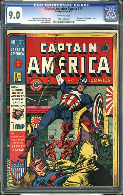 CGC Graded Comics - Captain America Comics #14 (CGC)