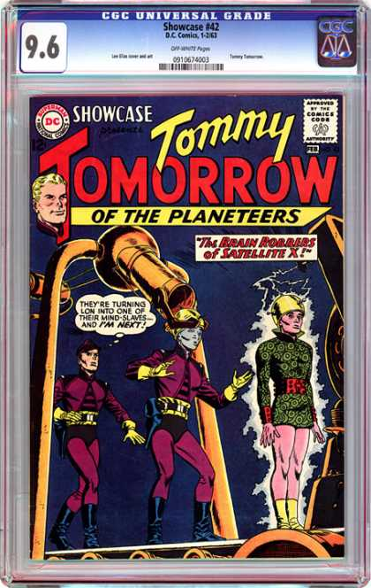 CGC Graded Comics - Showcase #42 (CGC) - Showcase - Comics Code - Tommy Tomorrow - Of The Planeteers - The Brain Robbers