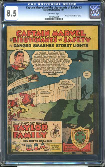 CGC Graded Comics - Captain Marvel and the Lieutenants of Safety #3 (CGC)