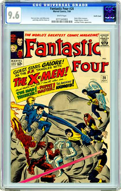 CGC Graded Comics - Fantastic Four #28 (CGC) - Fantastic Four - X-men - Hands - Guest Stars Galore - The Mad Thinker