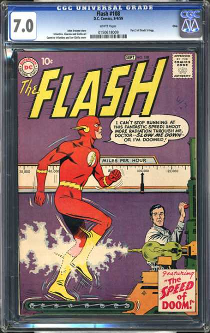 CGC Graded Comics - Flash #108 (CGC) - Flash - Superman National Comics - Approved By The Comics Code - Man - The Speed Of Doom