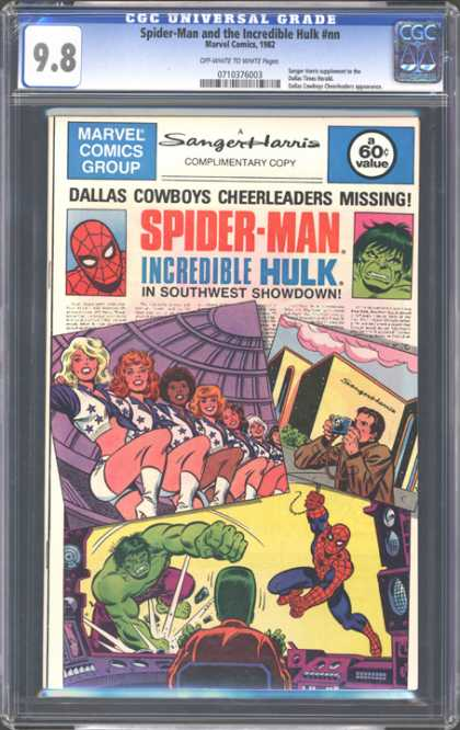 CGC Graded Comics - Spider-Man and the Incredible Hulk #nn (CGC) - Girls Are Giving Photo Stills - One Photo Grapher - Spider Man - Incredible Hulk - In Southwest Showdown