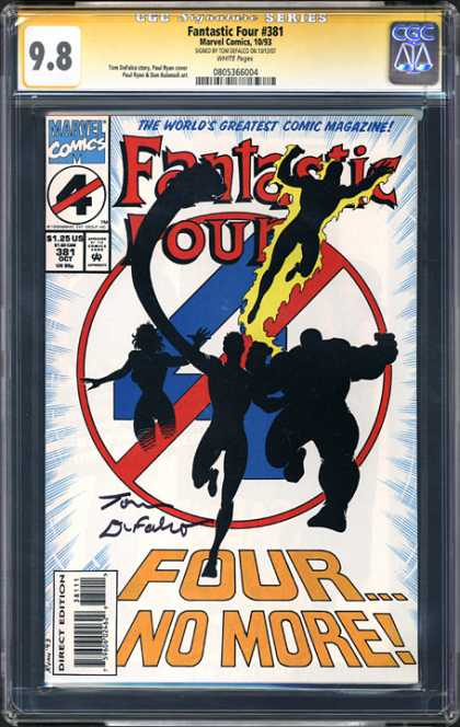 CGC Graded Comics - Fantastic Four #381 (CGC) - Fantastic Four - Worlds Greatest Comic Magazine - Marvel Comics - Fourno More - Fire