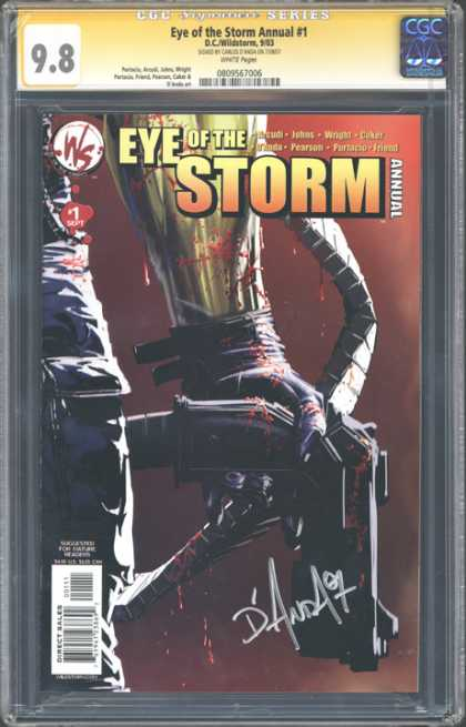 CGC Graded Comics - Eye of the Storm Annual #1 (CGC) - Eye Of The Storm - Annual - Blood - Gun - Weapon