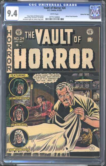 CGC Graded Comics - Valut of Horror #24 (CGC) - Vault Of Horror - The Vault-keeper - The Old Witch - The Crypt-keeper - Sheet