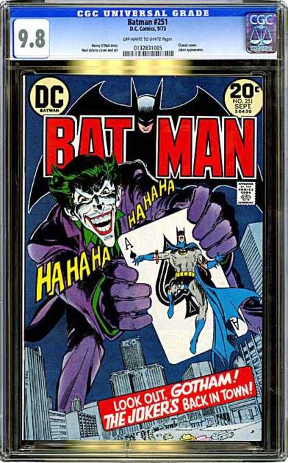 CGC Graded Comics - Batman #251 (CGC) - Joker - Ace - Gotham - Dc - 20 Cents