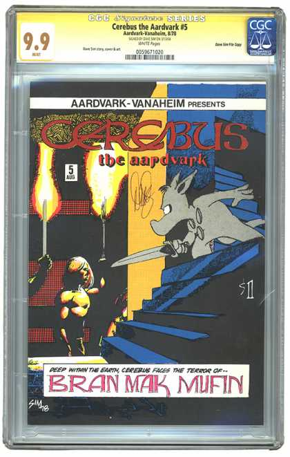 CGC Graded Comics - Cerebus the Aardvark #5 (CGC)