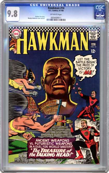 CGC Graded Comics - Hawkman #14 (CGC) - Heroes Fitghing - Fighting The Evil - Enemies - Only One Win - Indians