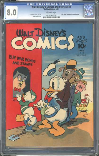 CGC Graded Comics - Walt Disney's Comics and Stories #31 (CGC) - Disney - Donald Duck - Huey - Duey - Louie