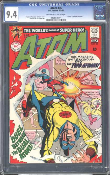 CGC Graded Comics - Atom #36 (CGC) - Atom - 94 - The Worlds Smallest Super-hero - Growing - Duel Between The Dual Atoms