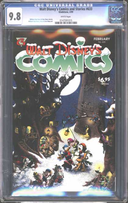 CGC Graded Comics - Walt Disney's Comics and Stories #633 (CGC) - Winter - Snow - Night - Jolly - Holidays