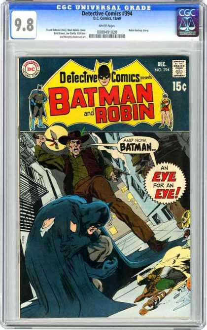CGC Graded Comics - Detective Comics #394 (CGC) - 394 - Batman And Robin - December - Tomahawk - Eye For An Eye