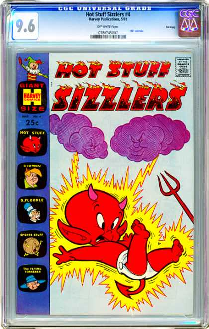 CGC Graded Comics - Hot Stuff Sizzlers #4 (CGC) - Little Red Devil - Struck By Lightning - Pitchfork - Diaper - Horns