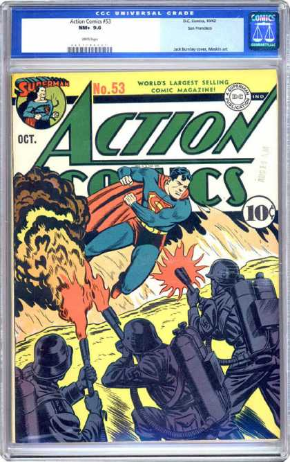 CGC Graded Comics - Action Comics #53 (CGC)