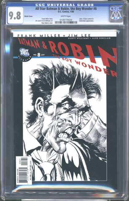 CGC Graded Comics - All Star Batman & Robin, the Boy Wonder #8 (CGC) - Frank Miller - Batman And Robin - Issue 8 - Dc Comics - The Boy Wonder