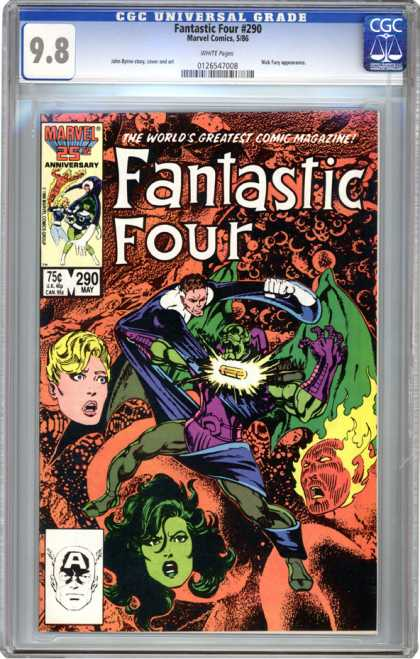 CGC Graded Comics - Fantastic Four #290 (CGC) - The Human Torch - The Thing - Mister Fantastic - Invisible Girl - 25th Anniversary