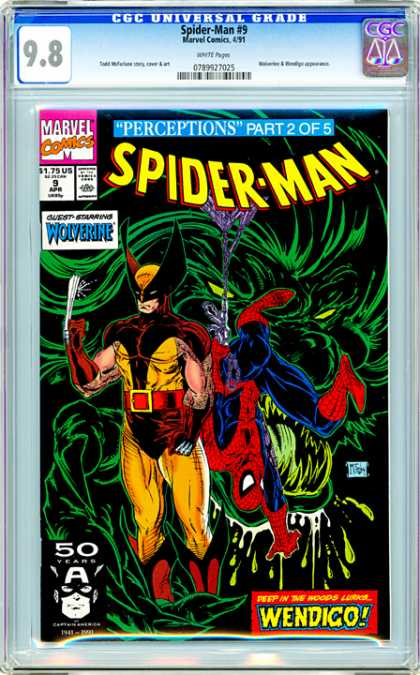 CGC Graded Comics - Spider-Man #9 (CGC) - Spider-man - Part 2 Of 5 - Costume - Wolverine - Claws