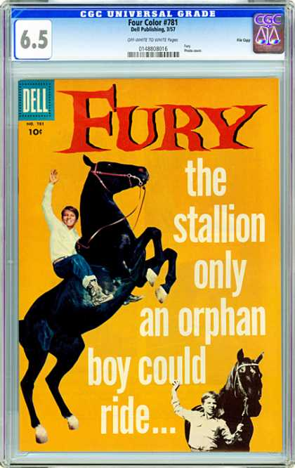 CGC Graded Comics - Four Color #781 (CGC) - Dell - 10 Cents - Stallion - Black - Orphan Boy